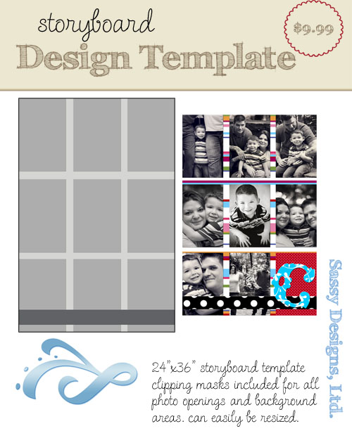 Tic Tac 24x36 Storyboard Template