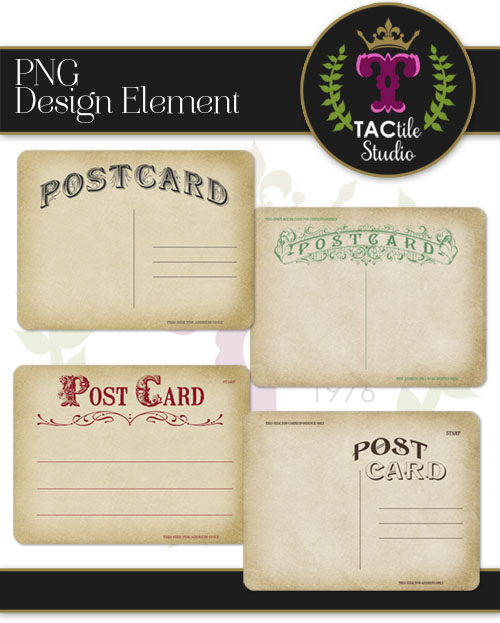 Vintage Postcard Journaling Cards